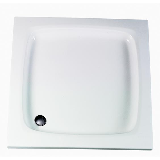 Schulte Duschwanne, Sanitäracryl, flach, quadratisch, 90 x 90 x 3 cm