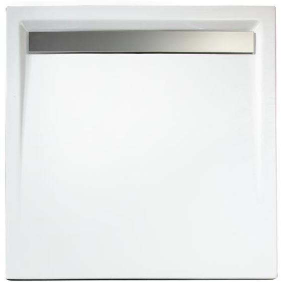 Schulte Duschwanne, Sanitäracryl, mit Rinne, quadratisch, 90 x 90 x 3,5 cm