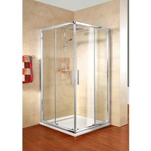 Schulte Eckeinstieg Kristall/Trend 100 cm x 80 cm x 185 cm Echtglas klar hell