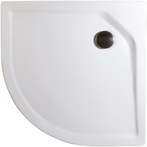Schulte Rundduschwanne »Extraflach«, rund, Sanitäracryl, BxT: 100 x 100 cm