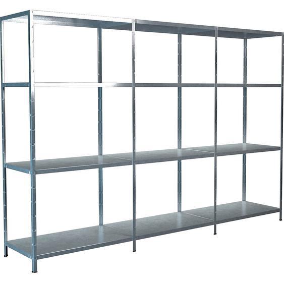 Schulte Set 1 Steckregal/Kellerregal und 2 Anbauregale Verzinkt 180 cm x 260 x 50 cm