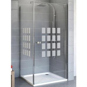 Schulte Set Drehtür und Seitenwand Cubic 192 cm x 90 cm x 90 cm