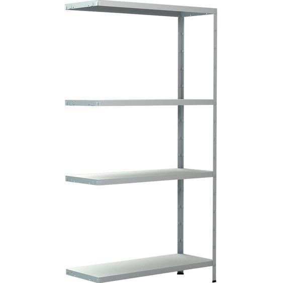Schulte Steck-Anbauregal Weiß 150 cm x 80 cm x 30 cm