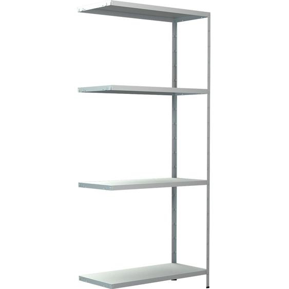 Schulte Steck-Anbauregal Weiß 180 cm x 80 cm x 35 cm