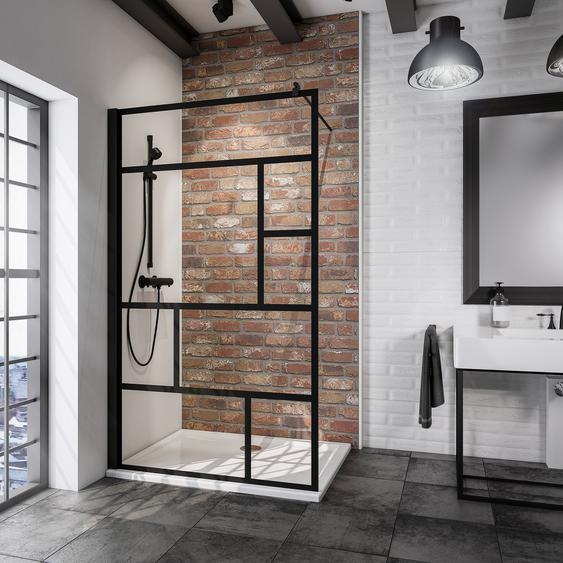Schulte Walk In Dusche Alexa Style 2.0 Atelier 1 teilgerahmt, schwarz, 90 x 200 cm