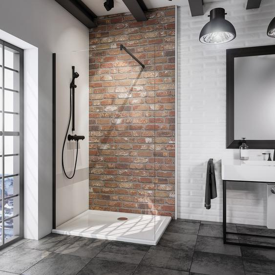 Schulte Walk In Dusche Alexa Style 2.0 Loft teilgerahmt, schwarz, 120 x 200 cm, 1-teilig