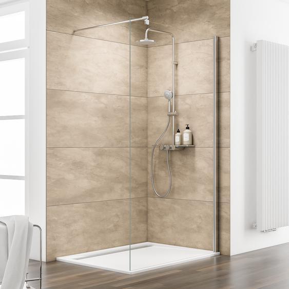 Schulte Walk In Dusche MasterClass M8 teilgerahmt, Chromoptik, 100 x 200 cm