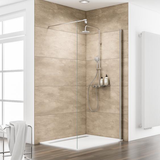 Schulte Walk In Dusche MasterClass M8 teilgerahmt, Chromoptik, 90 x 200 cm