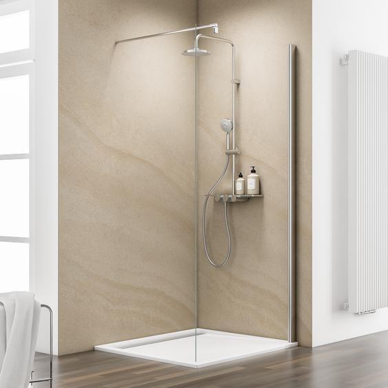 Schulte Walk In Dusche MasterClass teilgerahmt, Chromoptik, 90 x 200 cm
