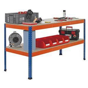SCHULTE Werkbank blau, orange 184,1 x 77,3 cm