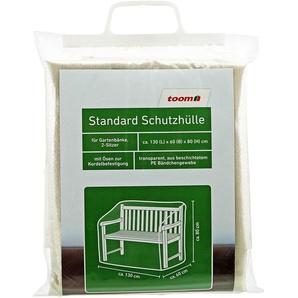 Standard Schutzhülle für Gartenbank PE-Bändchengewebe transparent 130 x 60 x 80 cm