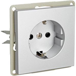 Schutzkontakt-Steckdoseneinsatz Design Line silbern