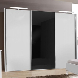 Schwebetüren-Kleiderschrank Swift, weiß, 2-türig - Glas rechts - 200 cm