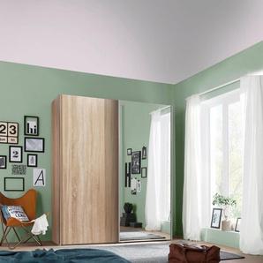 Schwebetürenschrank mit Spiegel, beige, BxHxT, Express Solutions