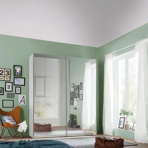 Schwebetürenschrank mit Spiegel, weiß, BxHxT, Express Solutions