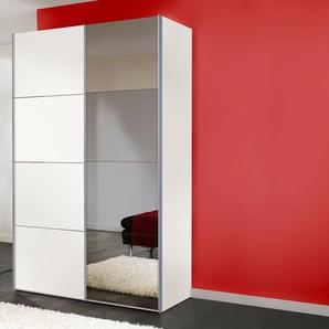 Schwebetürenschrank, weiß, Breite 150 cm, Express Solutions