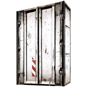 Schwebetürenschrank, weiß, Breite 150 cm, 2-türig, Express Solutions