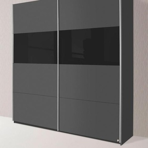 Schwebetürenschrank, 181 x 210 x 62 BxHxT cm, grau »Quadra«, rauch ORANGE