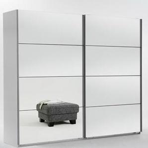 Schwebetürenschrank 2-trg. in Alpinweiß mit Spiegeltüren, Maße B/H/T ca. 270/210/65 cm