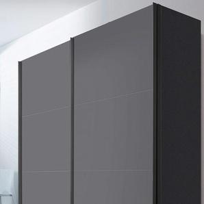 Schwebetürenschrank, 200 x 216 BxH cm, grau, Express Solutions