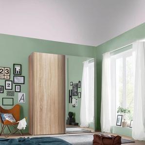 Schwebetürenschrank, 200 x 216 x 48 BxHxT cm, beige, Express Solutions