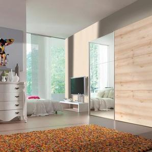 Schwebetürenschrank, beige, Breite 200 cm, Höhe 216 cm, Express Solutions