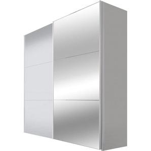 Schwebetürenschrank, 200 x 216 x 68 BxHxT cm, weiß, Material Glas, Express Solutions