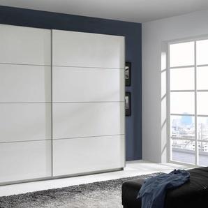 Schwebetürenschrank, 220 x 210 x 61 BxHxT cm, FSC®-zertifiziert, weiß, Material Metall »Starlet Plus«, FORTE, Hochglanz