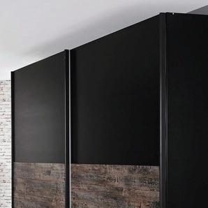 Rauch Schwebetürenschrank, 271 x 223 x 69 BxHxT cm, schwarz, Material Metall »Sumatra«