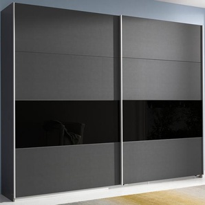 Schwebetürenschrank, 271 x 230 x 62 BxHxT cm, grau »Quadra«, rauch ORANGE