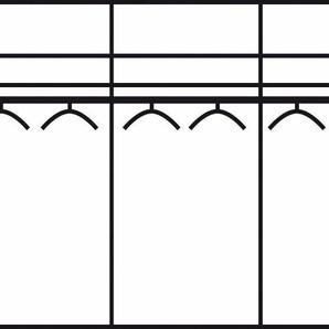 Schwebetürenschrank, 330 x 216 x 67 BxHxT cm, schwarz »Westside«, WIEMANN, Nadelstreifen