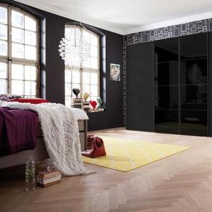 Schwebetürenschrank, 350 x 216 BxH cm, schwarz, Express Solutions
