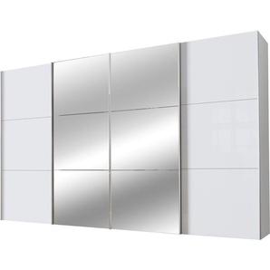 Schwebetürenschrank, weiß, Höhe 236 cm, Breite 400cm, Express Solutions