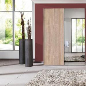 Schwebetürenschrank, beige, Breite 150 cm, Hochglanz, Express Solutions