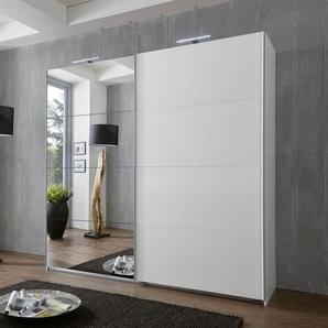 WIMEX Schwebetürenschrank, 225 x 210 x 65 BxHxT cm, weiß, Material Metall »Ernie«