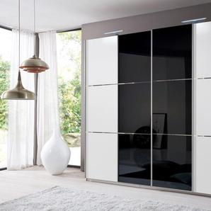fresh to go Schwebetürenschrank, 295 x 236 x 65 BxHxT cm, schwarz, Material Glas »Escape«