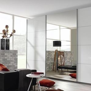 Rauch Schwebetürenschrank »Kulmbach«, 360 x 230 x 62 BxHxT cm, weiß, Material Metall, Hochglanz, mit Schubkästen