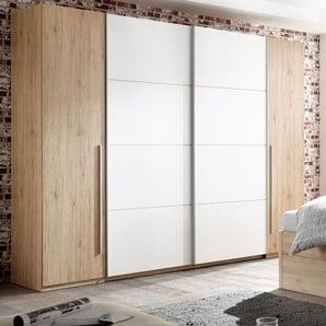 Kleiderschrank mit Dreh- und Schwebetüren, weiß, Breite 270 cm,