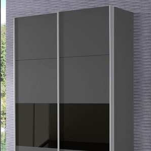 Rauch Schwebetürenschrank »Quadra«, 136 x 230 x 62 BxHxT cm, grau