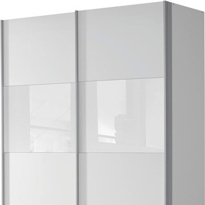 Schwebetürenschrank »Quadra«, 136 x 210 x 62 BxHxT cm, weiß, rauch ORANGE