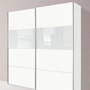 Schwebetürenschrank, 181 x 230 x 62 BxHxT cm, weiß »Quadra«, rauch ORANGE