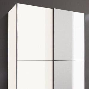 Schwebetürenschrank »Queen«, weiß, Breite 135 cm, Teilspiegel, Wimex
