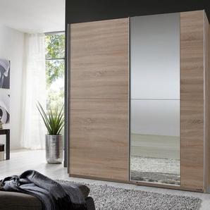 Schwebetürenschrank »Ritz«, beige, Breite 180 cm, 2-türig, Mit 1 Spiegeltür, Wimex