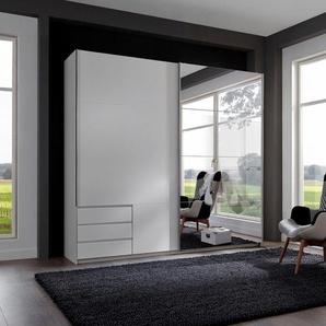 WIMEX Schwebetürenschrank »Seattle«, 225 x 208 x 64 BxHxT cm, weiß, Material Metall, mit Schubkästen