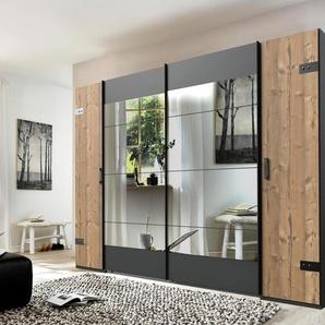 Dreh-/Schwebetürenschrank , grau, Breite: 270 cm, graphitfarben/Edeltannenfarben, »Stockholm«, Wimex