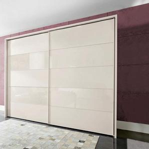 Schwebetürenschrank , beige, Breite 200 cm, Höhe 216 cm, »Sunset«, WIEMANN