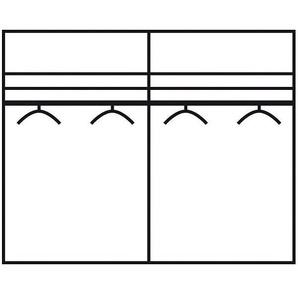 Schwebetürenschrank »Westside«, 200 x 216 x 67 BxHxT cm, braun, WIEMANN, Nadelstreifen