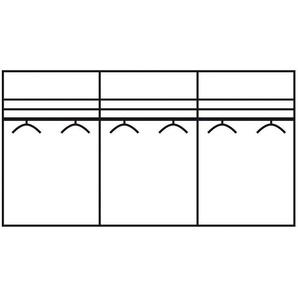 Schwebetürenschrank »Westside«, 250 x 216 x 67 BxHxT cm, schwarz, WIEMANN, Nadelstreifen