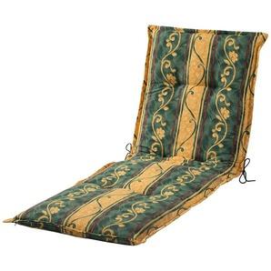 Liegenauflage  Sonate ¦ grün ¦ Druckstoff, 75% Baumwolle, 25% Polyester ¦ Maße (cm): B: 63 H: 9 Garten  Auflagen & Kissen  Gartenliegen-Auflagen » Höffner