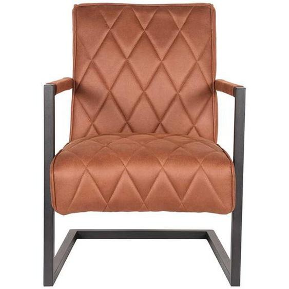 Schwing Sessel in Cognac Braun Microfaser Loft Design
